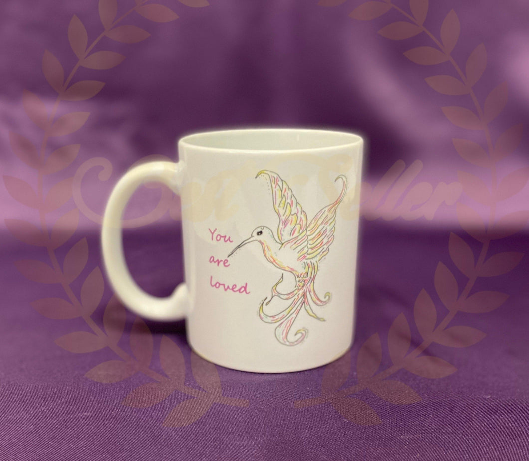 Bird - you are loved Mug - Send to a Friend UK
