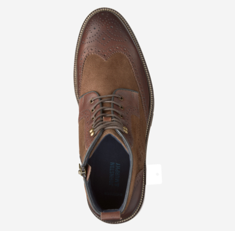 Johnston & Murphy- Wingtip Zip Boot