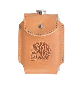 Eat Dust- Flask w Leater Holder