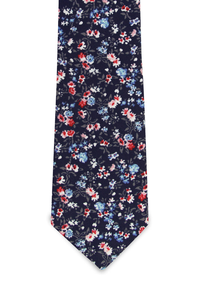 Pocket Square Clothing- Mica Floral Print Tie