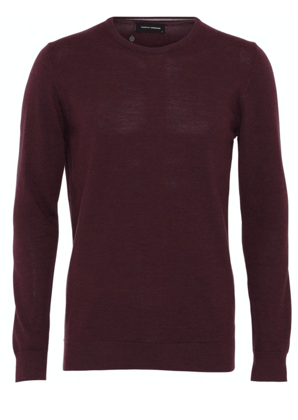 Clean Cut Copenhagen Merino Wool Crew - Red