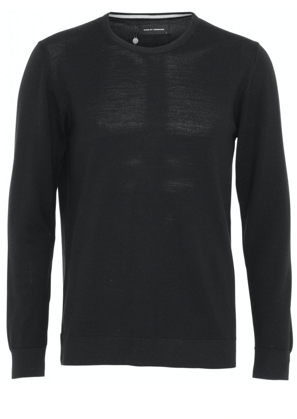 Clean Cut Copenhagen Merino Wool Crew - Black