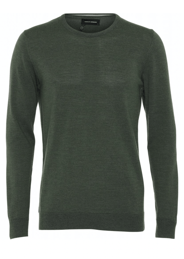 Clean Cut Copenhagen Merino Wool Crew - Army