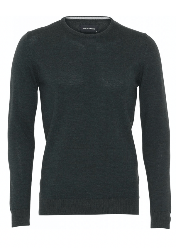 Clean Cut Copenhagen Merino Wool Crew - Green