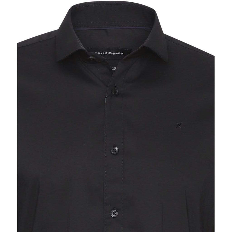 Clean Cut London Stretch Nano Shirt - Black
