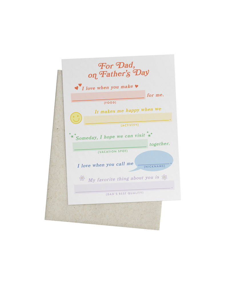 Dad Mad Libs Card