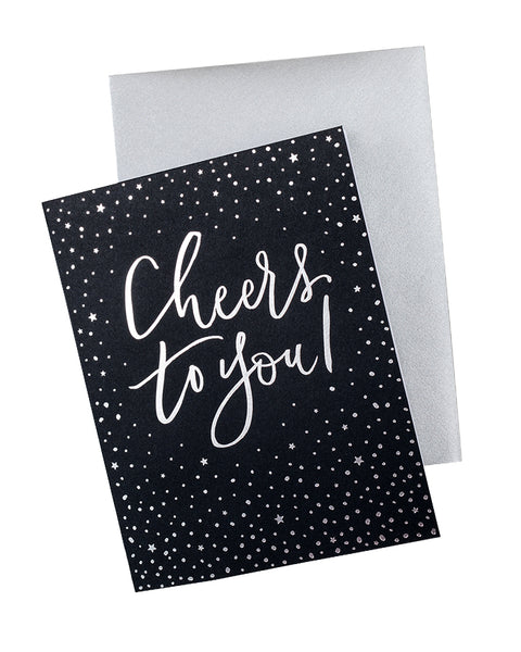 Knot & Bow Cheers to You! Foil Card