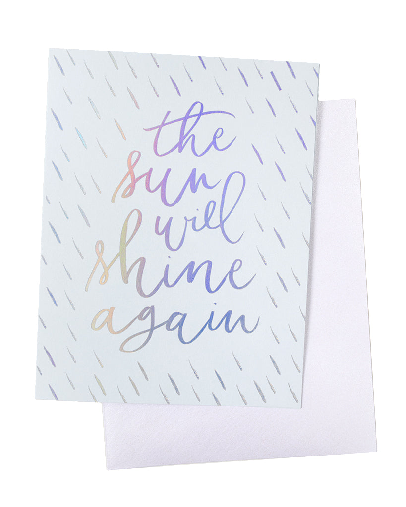 Knot & Bow The Sun Will Shine Again Foil Card