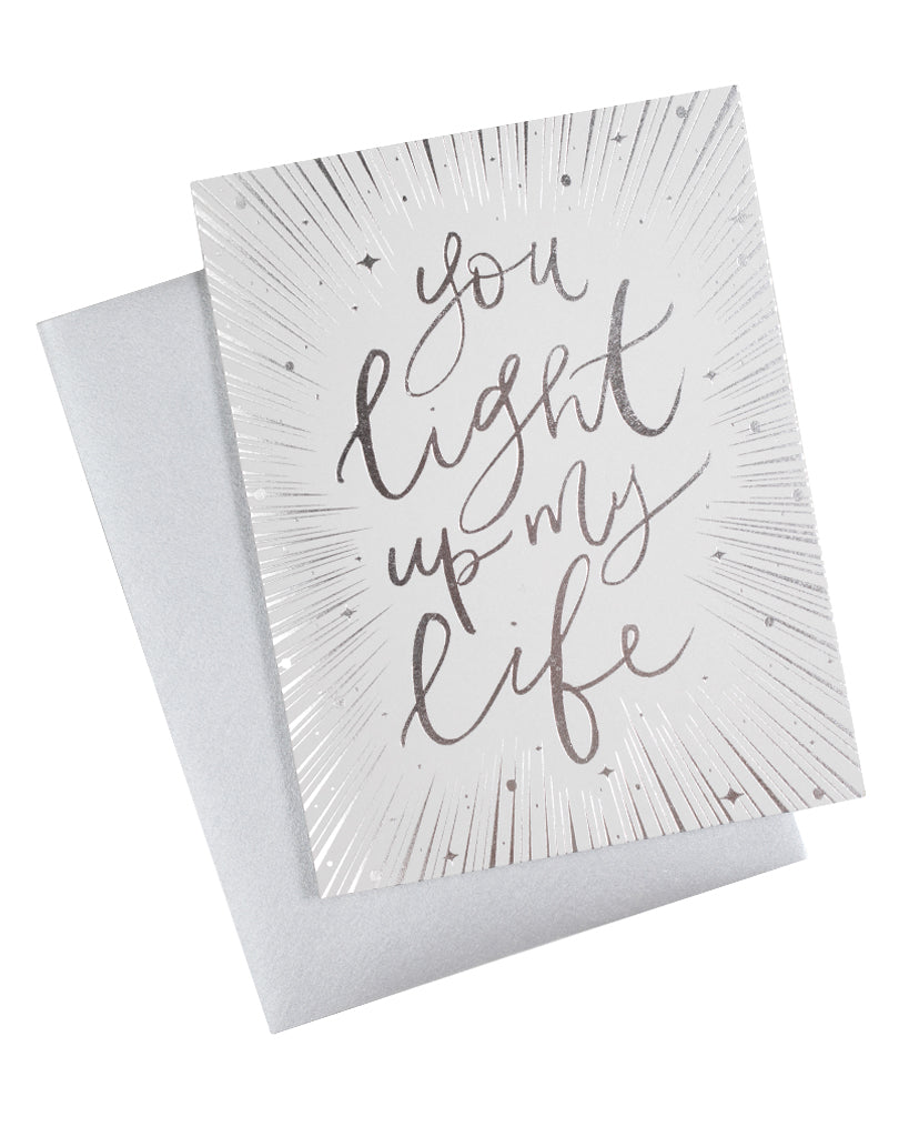 You Light Up My Life Foil Card