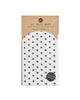 Pack of 12 white glassine treat bags with a small black heart pattern.