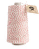 Jumbo cone with 750 yards of glitter twine in natural cotton with a twist of metallic red