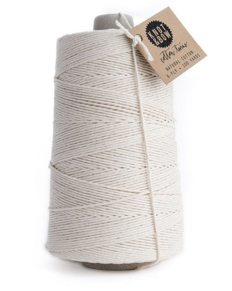 Jumbo cone with 750 yards of natural cotton twine