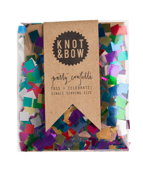 Single Serving Confetti Metallic Rainbow