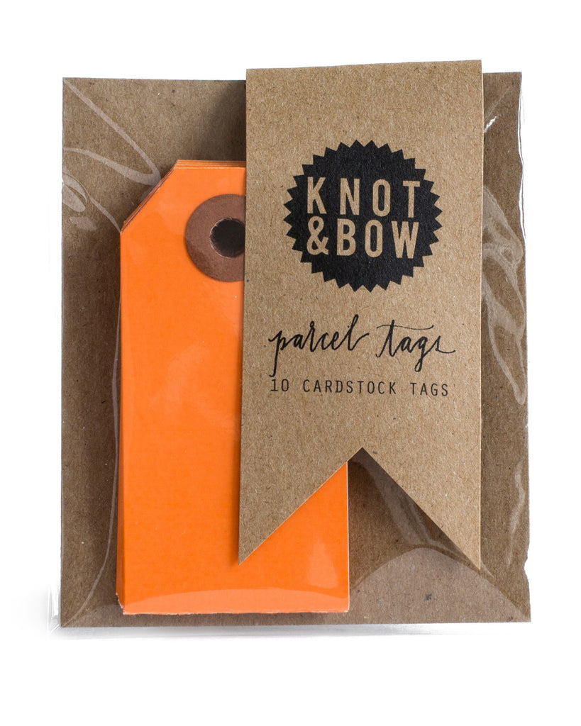 Knot & Bow Parcel Tags Orange