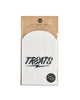 "Pack of 12 white glassine treat bags with ""Treats"" in bold black font."