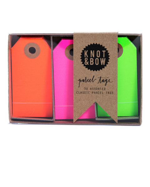 Knot & Bow Parcel Tag Trio Neon Mix