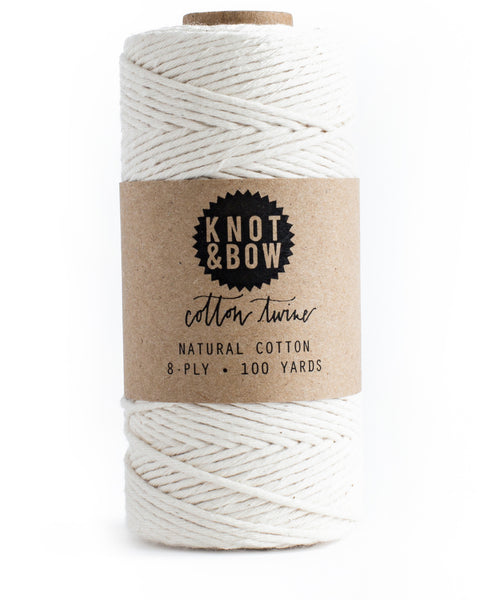 Spool of 100 yards of natural cotton twine