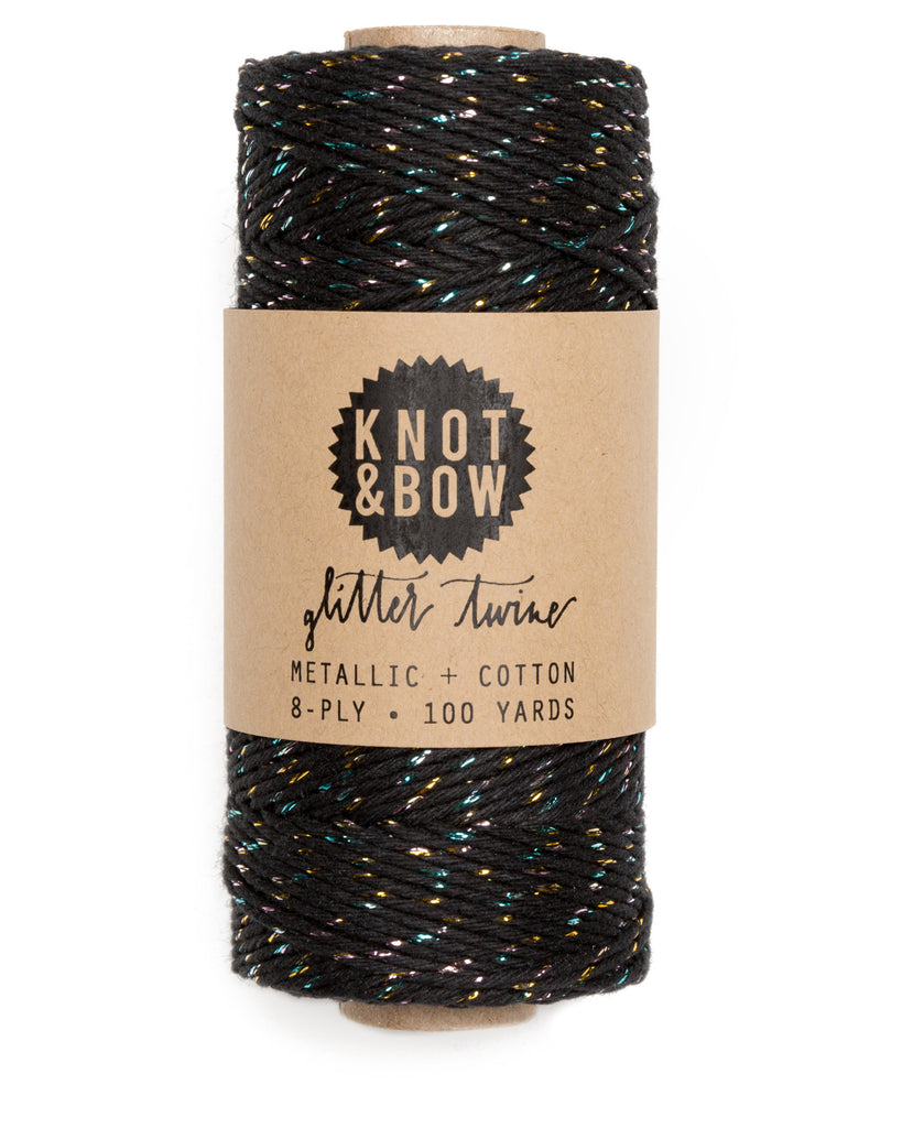 Knot & Bow The Original Glitter Twine Prism Black
