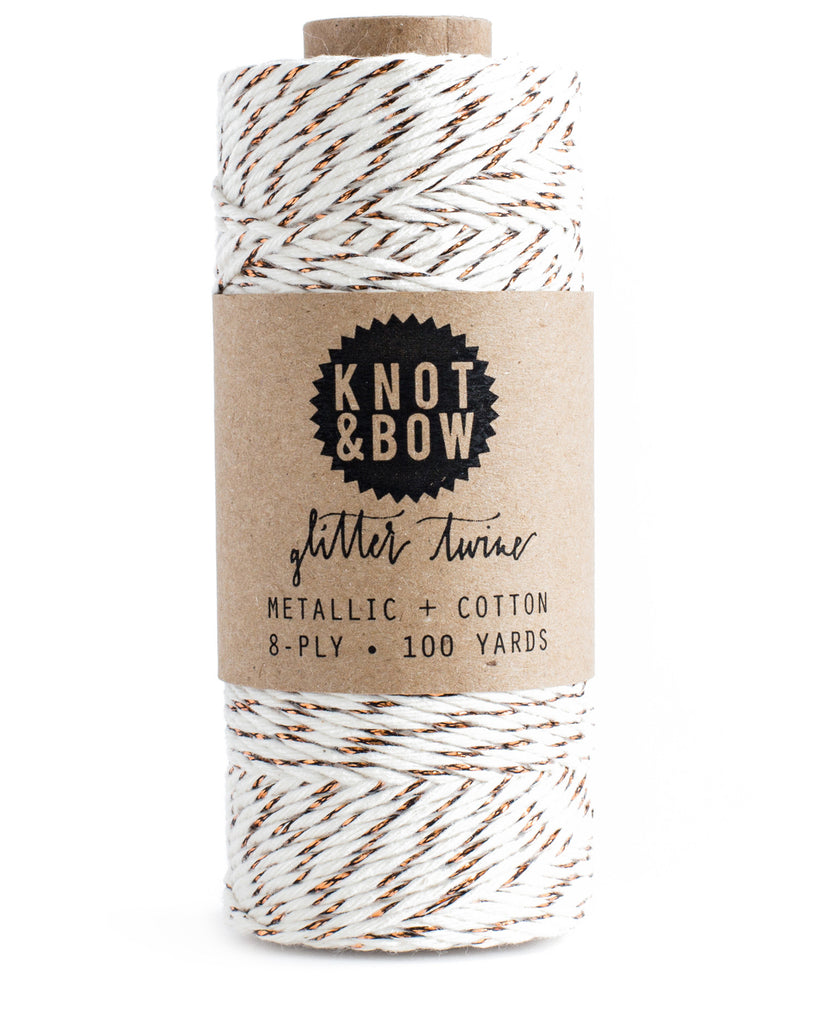 Knot & Bow The Original Glitter Twine Copper Natural