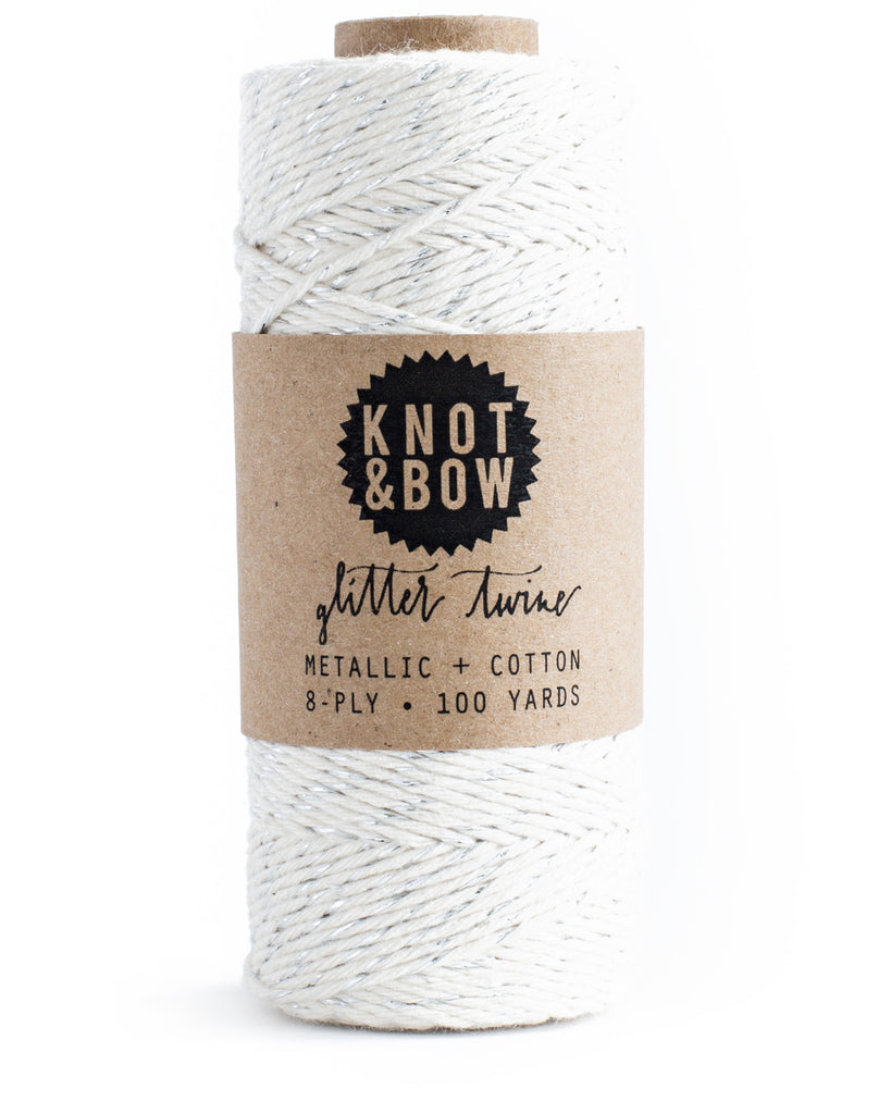 Knot & Bow The Original Glitter Twine Silver Natural