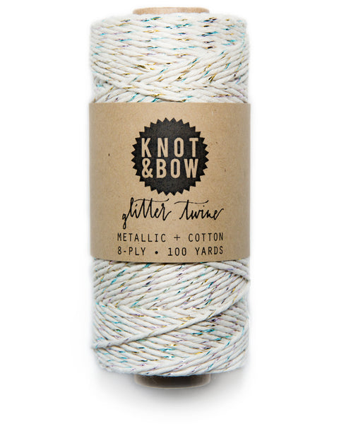 Knot & Bow The Original Glitter Twine Prism Natural
