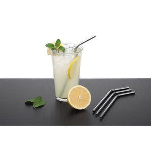 Stainless Steel Reusable Drinking Straws with Cleaning Brush