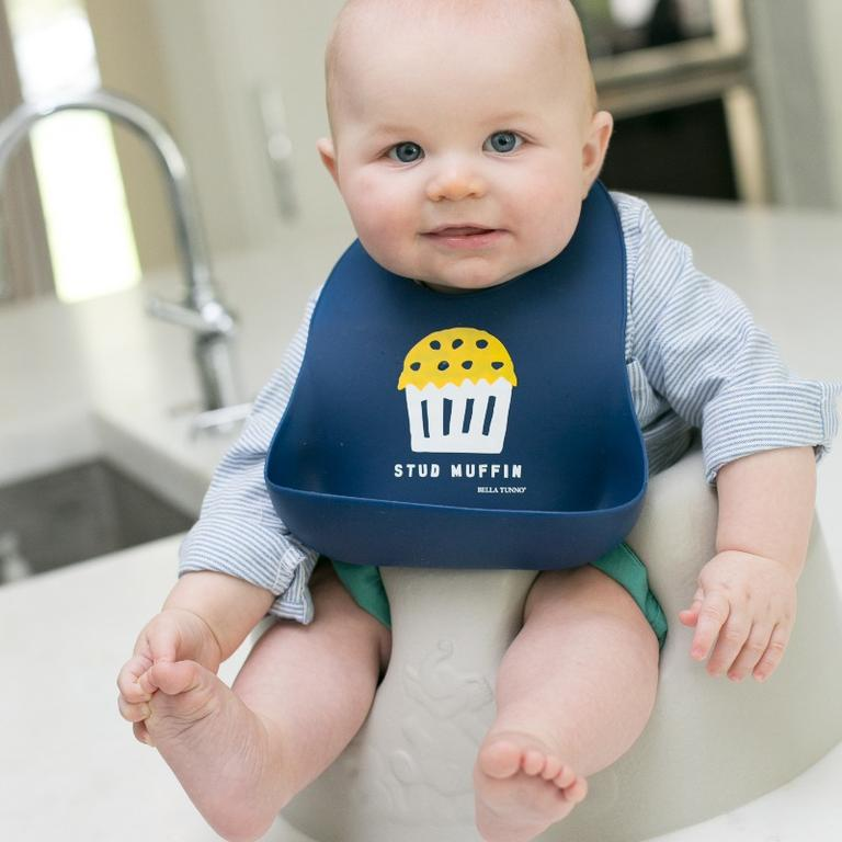 Load image into Gallery viewer, Bella Tunno – Stud Muffin Bib