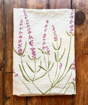 Load image into Gallery viewer, Lavender Tea Towel