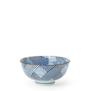 Load image into Gallery viewer, Aizome Shima Stripe Blue Bowl - 4.5""