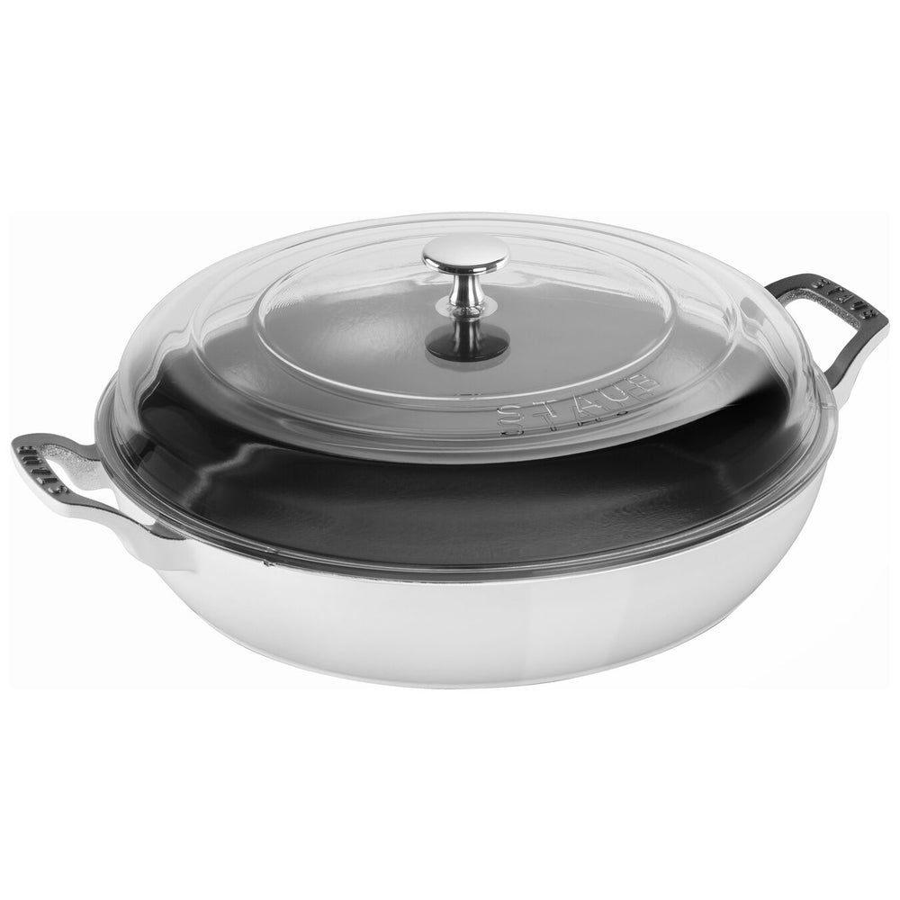 Load image into Gallery viewer, Staub Braiser with Glass Lid - 3.5 Qt