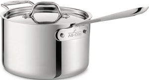 All Clad Sauce Pan With Loop & Lid - 4Qt