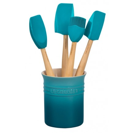 Le Creuset Utensils with Crock