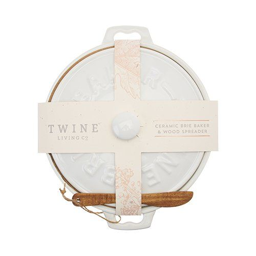 True Ceramic Brie Baker and Spreader by Twine