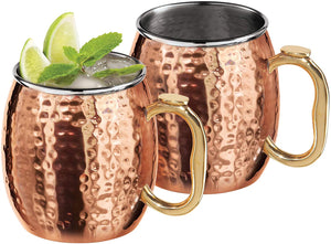 Hammered Moscow Mule Mugs - Set of 2