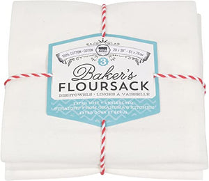 Baker's Floursack White - Set of 3