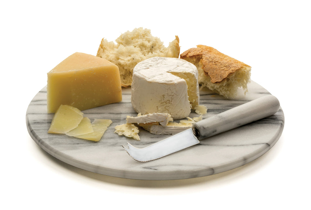 Marble Cheese Board And Knife