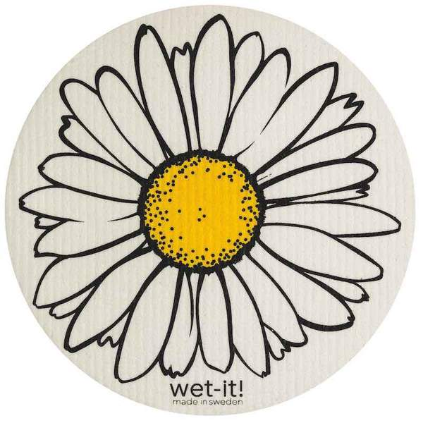 Wet it Daisy Round Swedish Dishcloth
