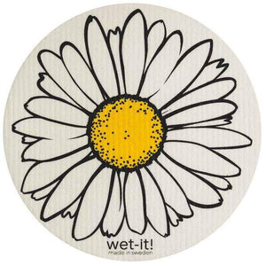 Load image into Gallery viewer, Wet it Daisy Round Swedish Dishcloth