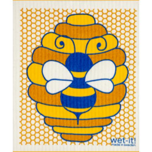 Wet it Honey Bee Swedish Dishcloth