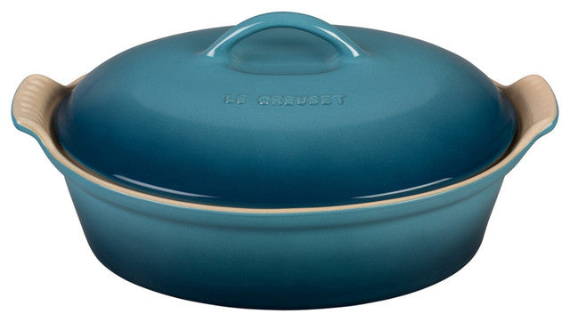 Load image into Gallery viewer, Le Creuset Heritage Oval Casserole with Lid - 2.5 qt
