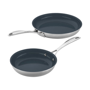 "Zwilling Clad CFX Ceramic 8"" and 10"" Fry Pan"