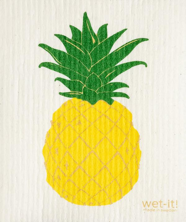 Load image into Gallery viewer, Wet it Pineapple Swedish Dishcloth