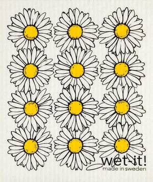 Wet it Daisies Swedish Dishcloth