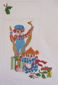 Raggedy Ann/Andy Stocking