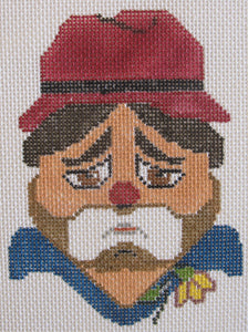 Hobo Clown Head w/Stitch Guide