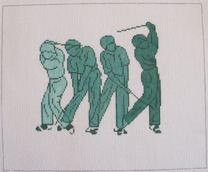 Male Golf Silhouettes