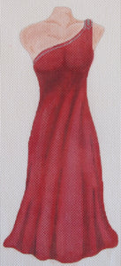 Red Grecian Gown