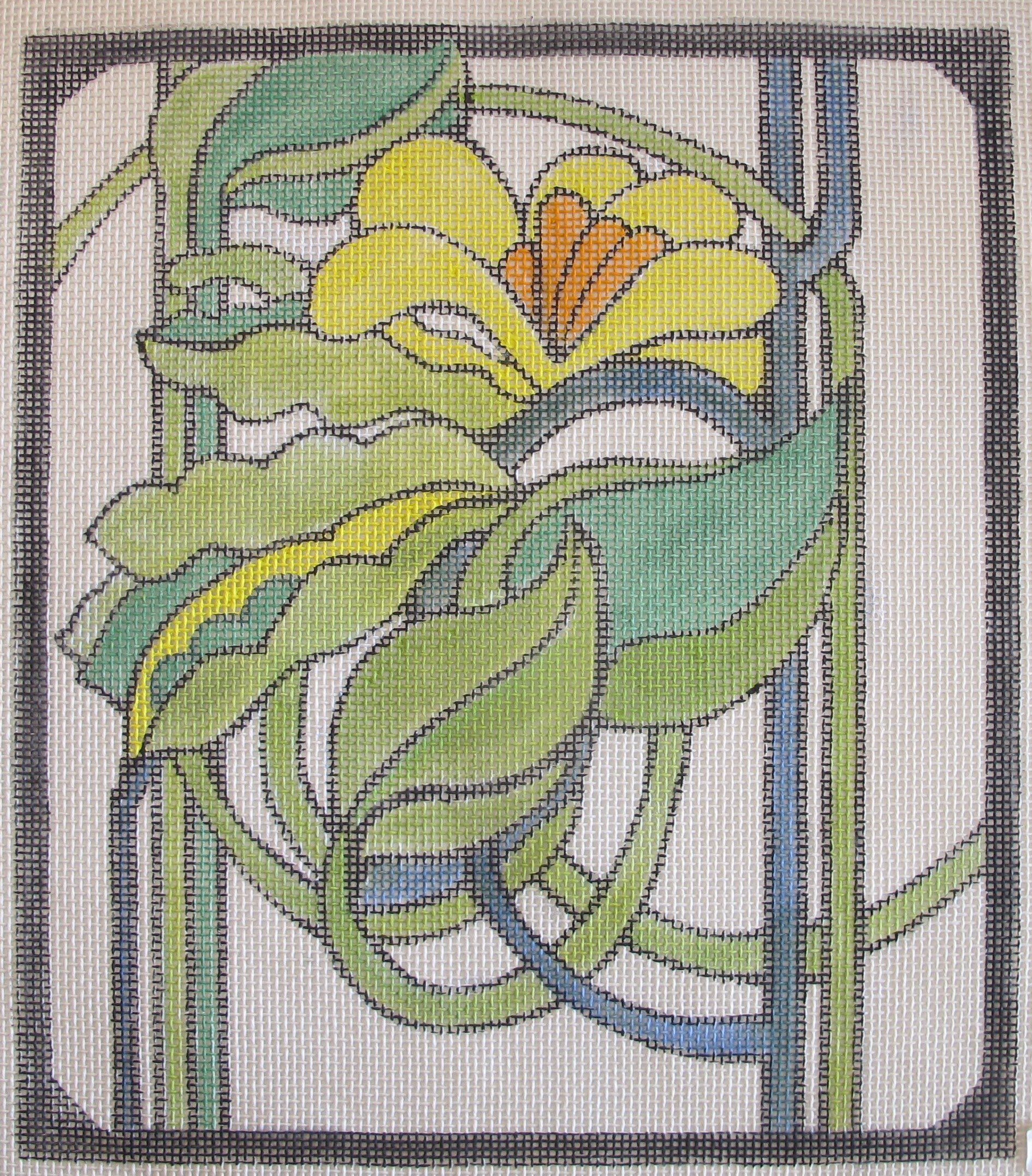 Stained Glass Pea Pods w/Flowers