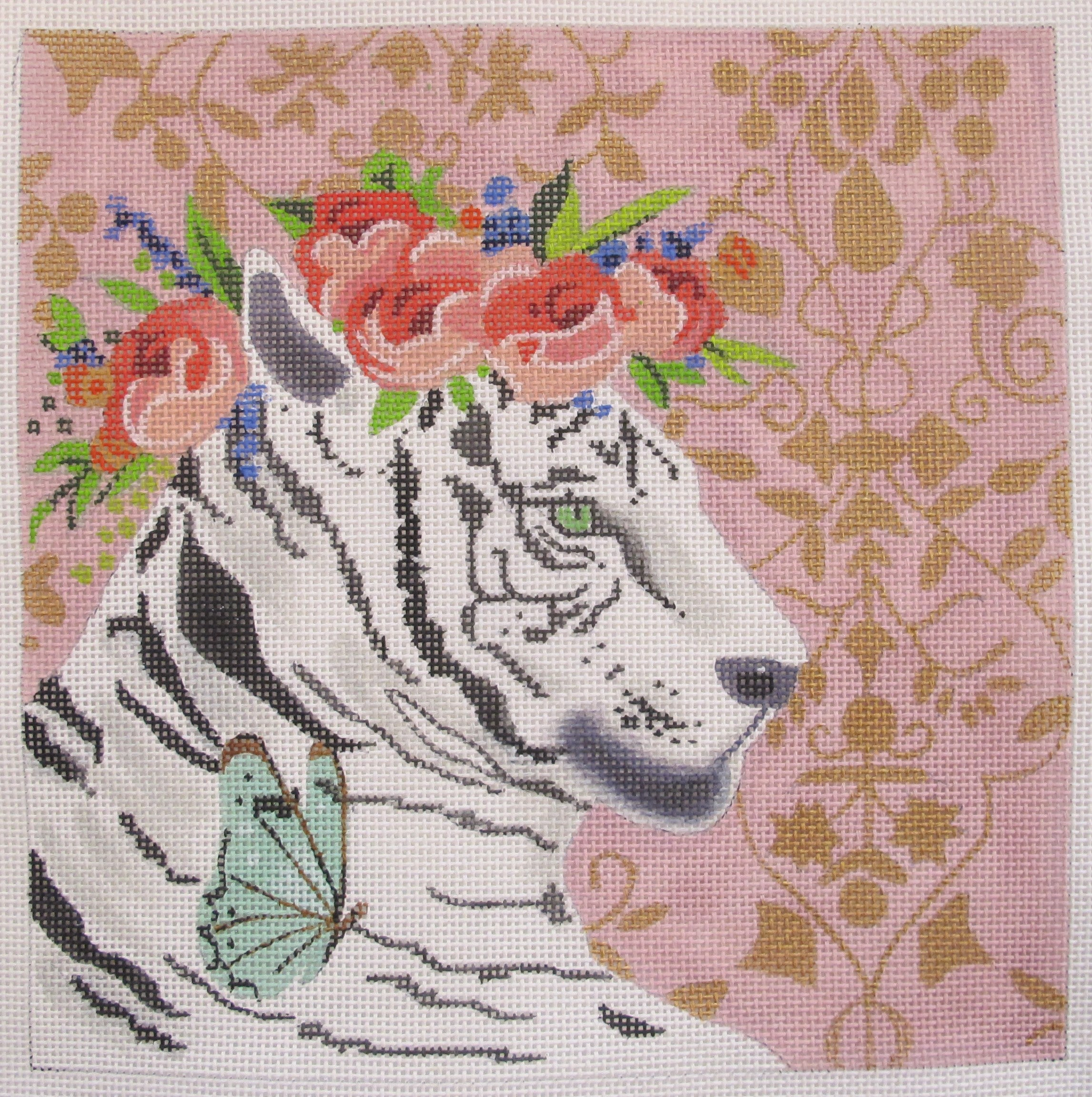 White Tiger w/Floral Crown