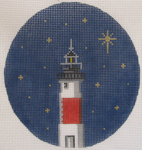 Circle Lighthouse Ornament